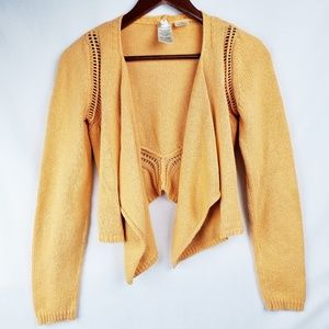 Anthropologie | Moth Cardigan Sweater Orange Crop